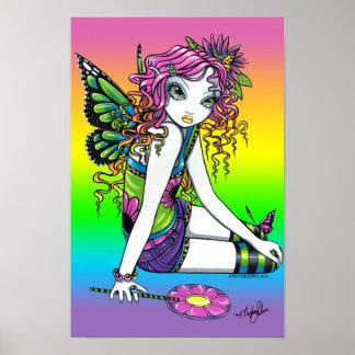 "Poster ""cristalino"" de la hada de la mariposa del"