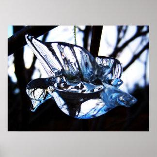 Poster cristalino del colibrí