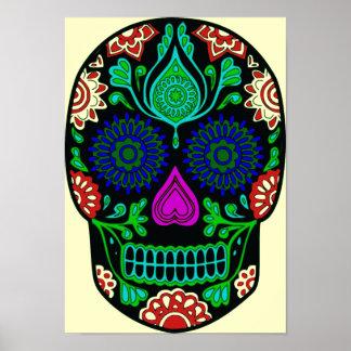 Poster cristalino retro del cráneo