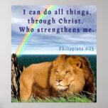 Poster cristiano de la escritura