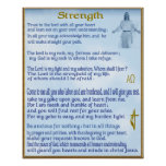 poster cristiano de la escritura del strengh