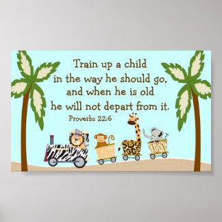 Poster cristiano de la pared del verso de la bibli