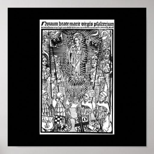 Poster cristiano de los símbolos
