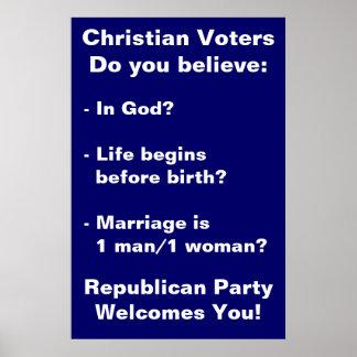 Poster cristiano de los votantes