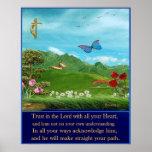 poster cristiano del 3:5 de los proverbios