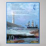 Poster cristiano del arte de las escrituras