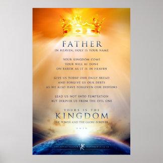 Poster cristiano - el rezo del Jesucristo