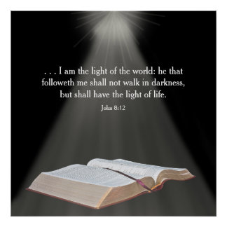 Poster cristiano - soy….Mundo - verso de la biblia