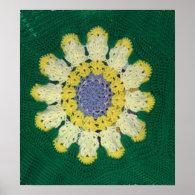 Poster - Crochet pattern - Daisy