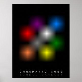 Poster cromático del cubo