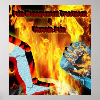 Poster crónico del dolor del tratamiento 4 de la g
