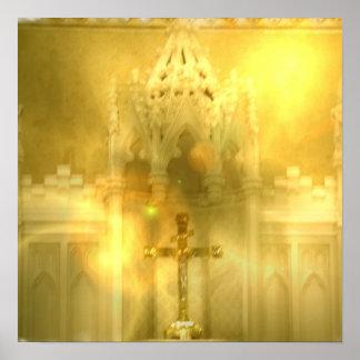 Poster cruzado cristiano
