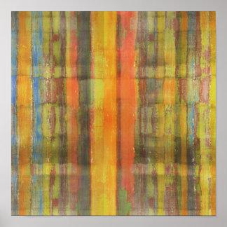 Poster cuadrado de los colores de tierra del arte