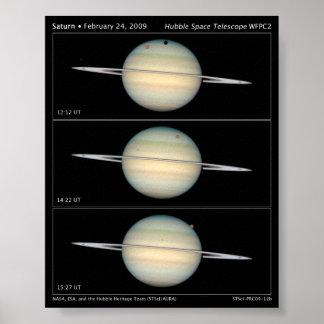 Poster cuádruple de la astronomía del tránsito de
