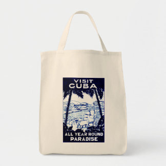 Poster cubano del viaje del vintage bolsa tela para la compra