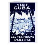 Poster cubano del viaje del vintage tarjetas