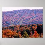 Poster - cuestas del esquí del otoño