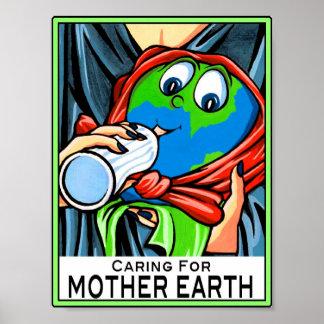 """Poster:  """"Cuidando para la madre tierra """""""