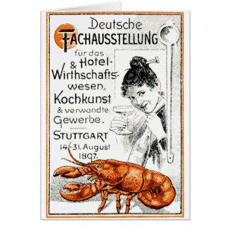 Poster culinario 1897 tarjeta