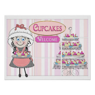 POSTER - CUPCAKE BOUTIQUE - MELODY THE BAKER