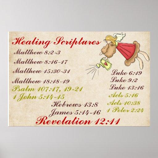 Poster curativo de las escrituras