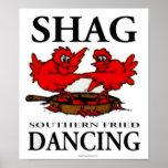 Poster curruscante de baile frito meridional de la