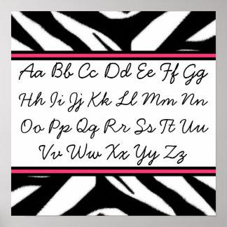 Poster cursivo del alfabeto