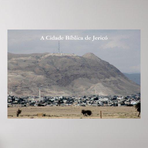 Pôster da cidade bíblica de Jericó em Israel Póster