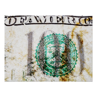 Poster de 100 billetes de dólar (7) póster