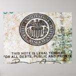 Poster de 100 billetes de dólar (8)