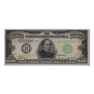 Poster de $10.000 Bill