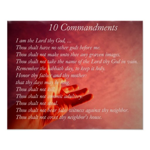 Poster de 10 Comandments