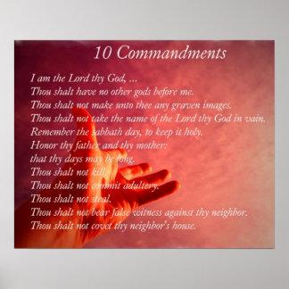 Poster de 10 Comandments Póster