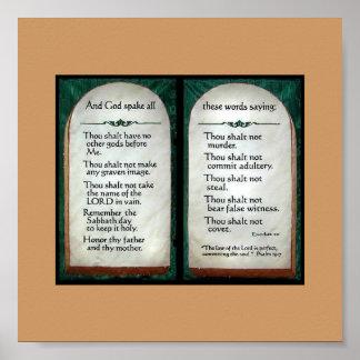 Poster de 10 mandamientos póster