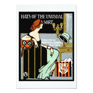 """Poster de 1920 modas invitación 5"""" x 7"""""""