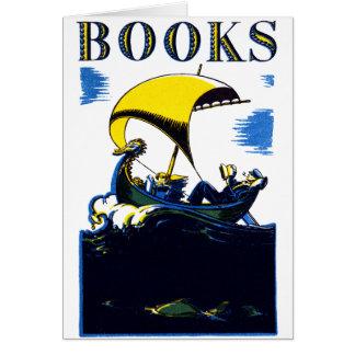 Poster de 1930 libros tarjeta pequeña