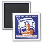 Poster de 1947 sionistas iman para frigorífico