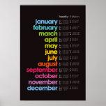 Poster de 2013 calendarios - negro