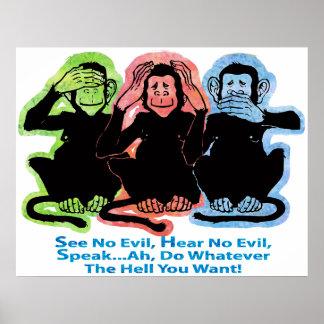 Poster de 3 monos