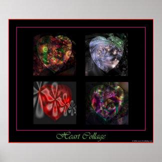 Poster de 4 corazones