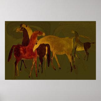 POSTER de 4-HORSES II