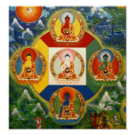 Poster de 5 Dhyani Buddhas
