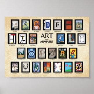 Poster de ABC - arte en el alfabeto
