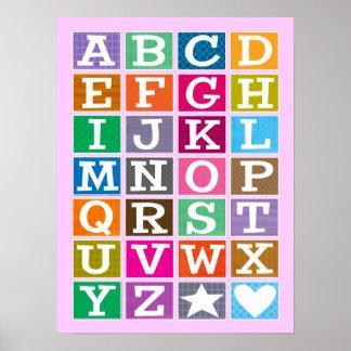 Poster de ABC (rosa)