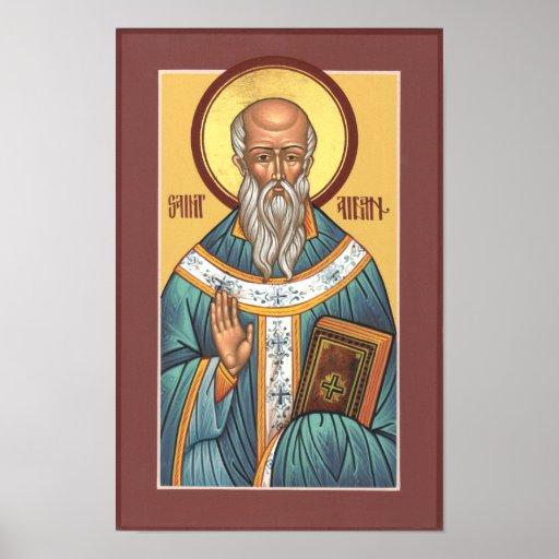 Poster de Aidan del santo Póster