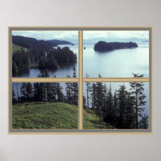 Poster de Alaska de la bahía de Kazakof