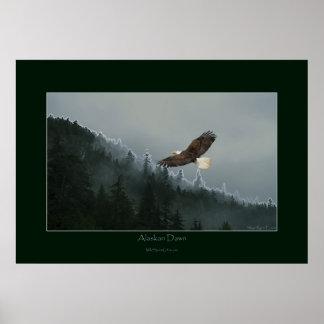 Poster DE ALASKA del arte del AMANECER