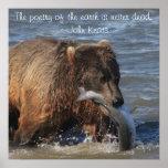 Poster de Alaska del oso de Brown con la cita de K