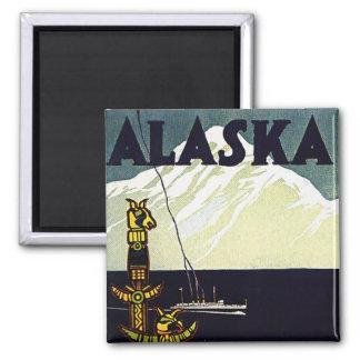 poster de Alaska del vintage Imán Cuadrado
