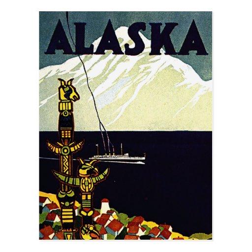 poster de Alaska del vintage Postal